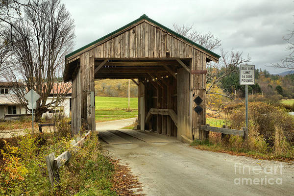 Photograph - Vermont Scribner Covered Bridge by Adam Jewell