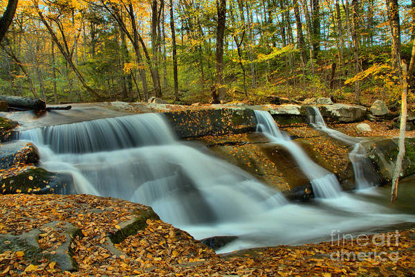 Photograph - Vermont Stickney Brook Falls by Adam Jewell