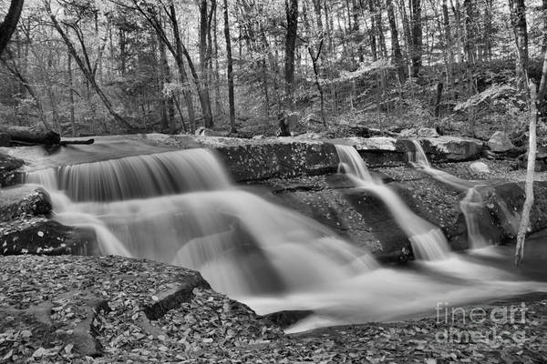Photograph - Vermont Stickney Brook Falls Black And White by Adam Jewell