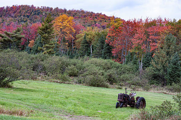 Photograph - Vermont Tractor In Groton State Forest by Jeff Folger