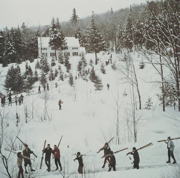 Skiing Photograph - Vermont Winter by Slim Aarons