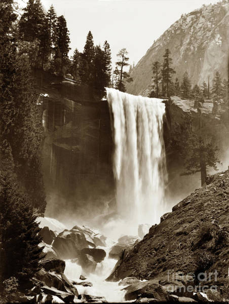 Photograph - Vernal Fall, Vosemite Valley 1912 by California Views Archives Mr Pat Hathaway Archives