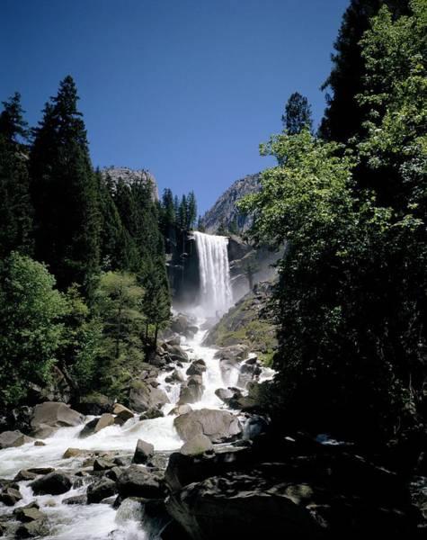 Vernal Fall Photograph - Vernal Falls, 318ft., Yosemite National by Geoff Renner / Robertharding