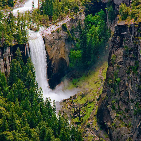 Vernal Fall Photograph - Vernal Falls by Michael Lawenko Dela Paz