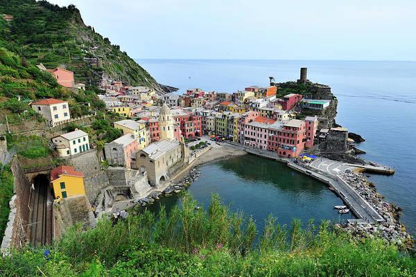 Vernazza Photograph - Vernazza Cinque Terre by Copyright © Carlos Wunderlin