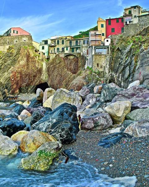 Wall Art - Photograph - Vernazza From The Side by Frozen in Time Fine Art Photography