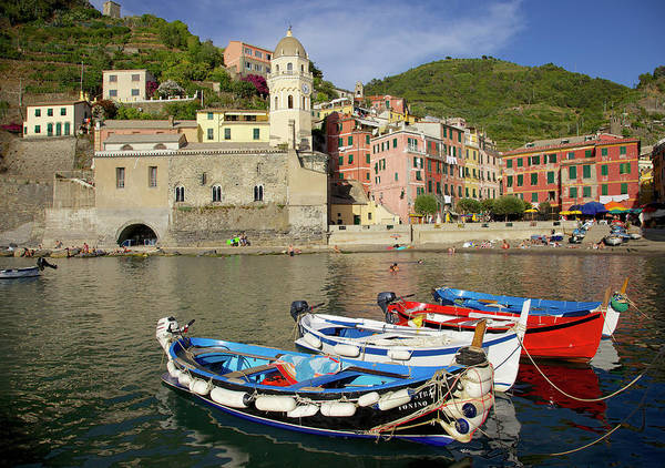 Vernazza Photograph - Vernazza, Italy by Marcel Pinus