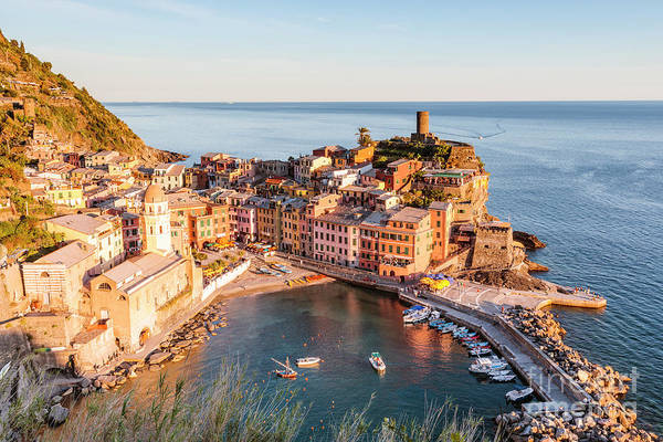 Wall Art - Photograph - Vernazza Sunset, Cinque Terre, Italy by Matteo Colombo
