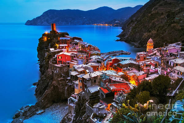 Wall Art - Photograph - Vernazza Village, Aerial View On by Stevanzz