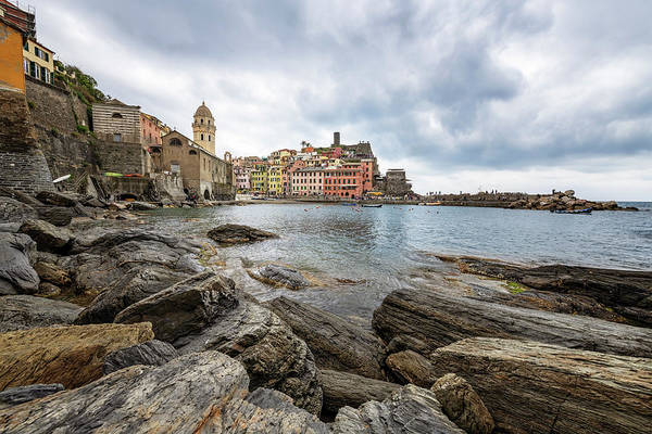 Wall Art - Photograph - Vernazza Waterfront Cinque Terre Italy by Joan Carroll