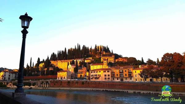Photograph - Verona At Sunset by Wendy Payne Travel Writer