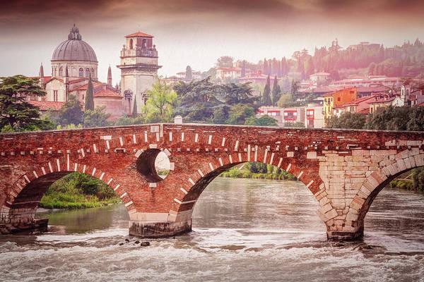 Northern Italy Photograph - Verona Italy Ponte Pietra  by Carol Japp