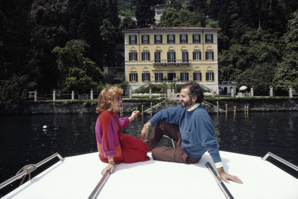 Wall Art - Photograph - Versace And Spagnol by Slim Aarons