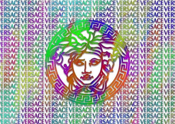 Wall Art - Digital Art - Versace Paint Pattern Design by Ricky Barnard