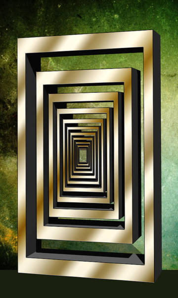 Digital Art - Vertical Design 3 by Chuck Staley
