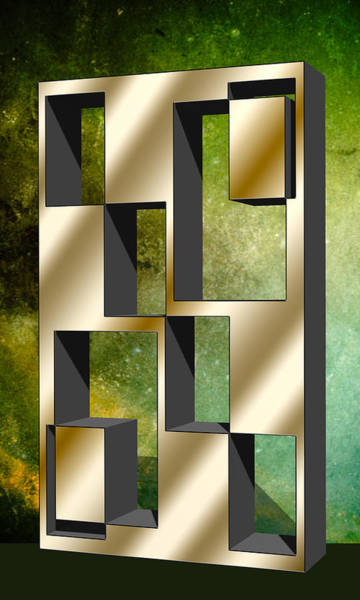 Digital Art - Vertical Design 4 by Chuck Staley