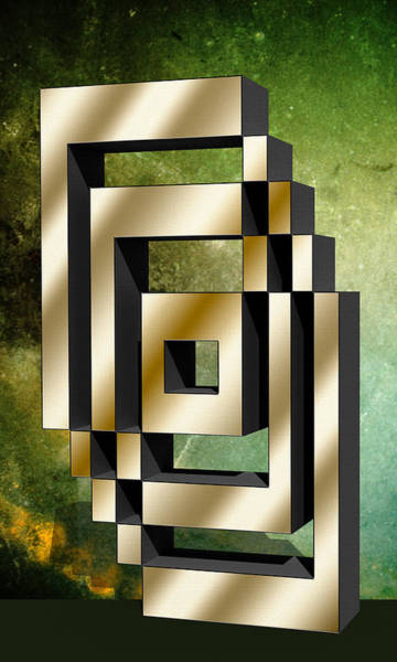 Digital Art - Vertical Design 6 by Chuck Staley