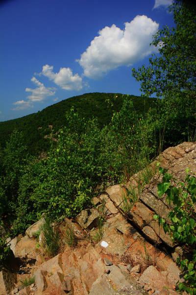 Photograph - Vertical Held Lehigh Gap Rocks by Raymond Salani III