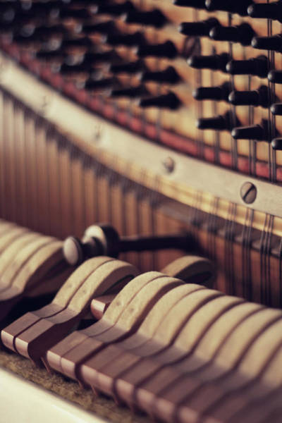Piano Photograph - Vertical Piano by Isabelle Lafrance Photography