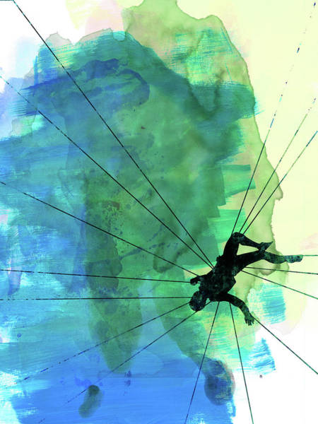Watercolor Mixed Media - Vertigo Watercolor by Naxart Studio