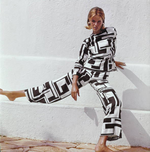Photograph - Veruschka In Emilio Pucci Pyjama Ensemble by Henry Clarke