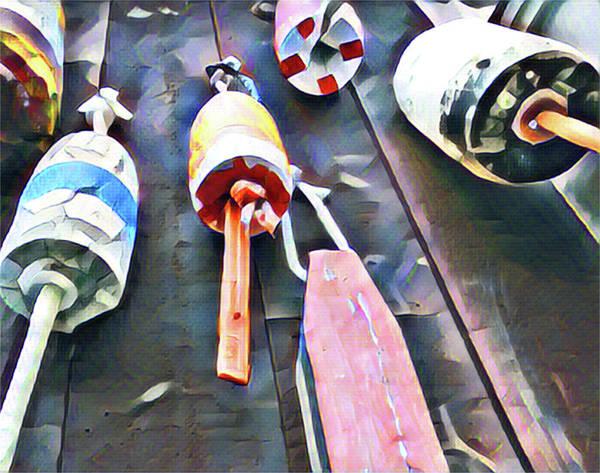 Bar Harbor Digital Art - Very Buoyant by Bowman Keath