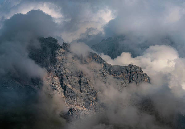 Wall Art - Photograph - Very Cloudy Morning In Dolomites by Jaroslaw Blaminsky