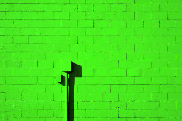 Photograph - Very Green Wall by Stuart Allen