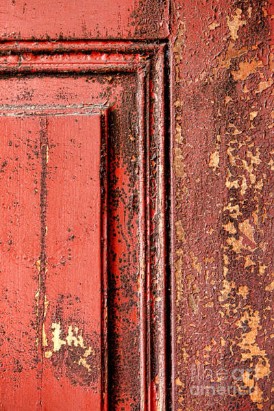 Wall Art - Photograph - Very Old Red Door  by Olivier Le Queinec