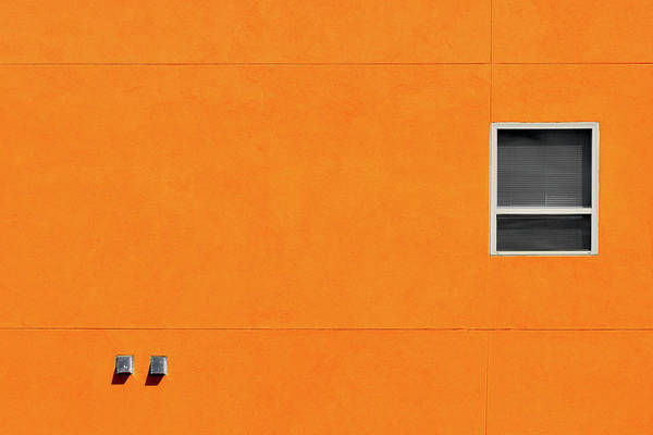 Photograph - Very Orange Wall by Stuart Allen