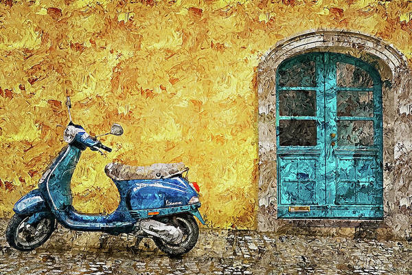 Painting - Vespa Scooter - 06 by Andrea Mazzocchetti