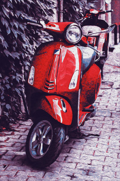 Painting - Vespa Scooter - 07 by Andrea Mazzocchetti