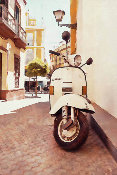 Painting - Vespa Scooter - 08 by Andrea Mazzocchetti