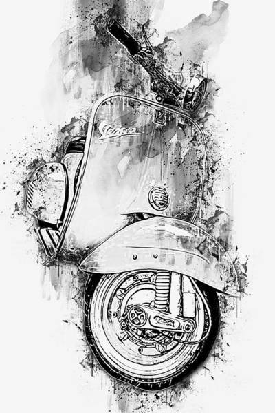 Painting - Vespa Scooter - 10 by Andrea Mazzocchetti