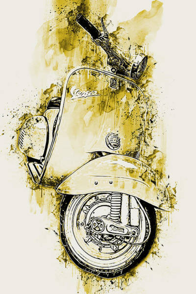 Painting - Vespa Scooter - 11 by Andrea Mazzocchetti