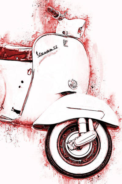 Painting - Vespa Scooter - 14 by Andrea Mazzocchetti