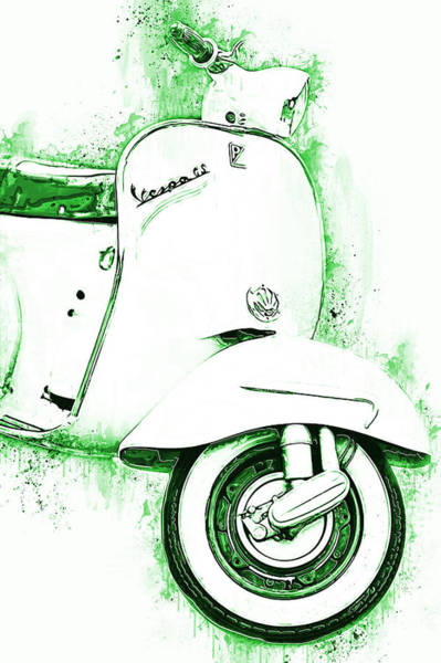 Painting - Vespa Scooter - 15 by Andrea Mazzocchetti