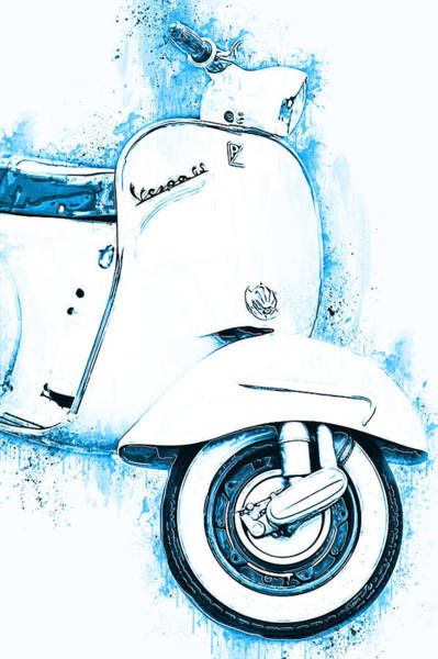 Painting - Vespa Scooter - 16 by Andrea Mazzocchetti
