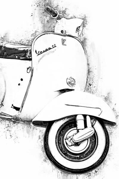 Painting - Vespa Scooter - 17 by Andrea Mazzocchetti