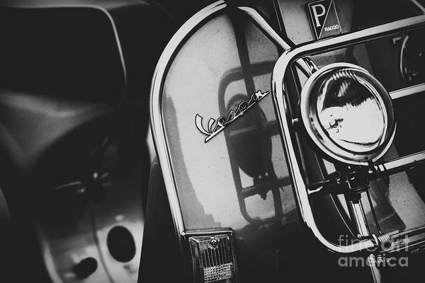 Wall Art - Photograph -  Vespa Scooter Monochrome by Tim Gainey