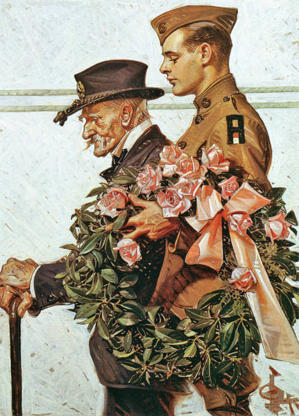 Wall Art - Painting - Veterans - Digital Remastered Edition by Joseph Christian Leyendecker