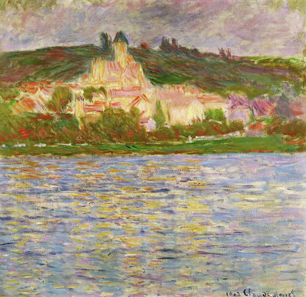Riverbed Painting - Vetheuil, 1902 - Digital Remastered Edition by Claude Monet