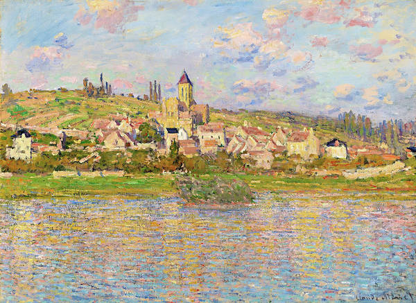 Riverbed Painting - Vetheuil - Digital Remastered Edition by Claude Monet