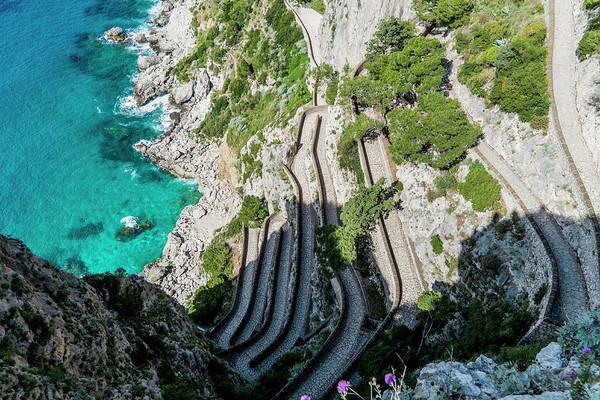 Capri Photograph - Via Krupp, Capri City, Capri, Campania by Arnt Haug / Look-foto