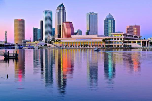 Oceanfront Photograph - Vibrant Colors In Tampa Harbor by Frozen in Time Fine Art Photography