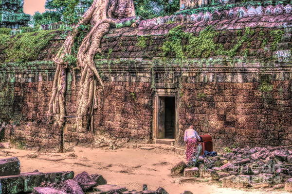 Wall Art - Photograph - Vibrant Colors Ta Prohm Temple Cambodia  by Chuck Kuhn