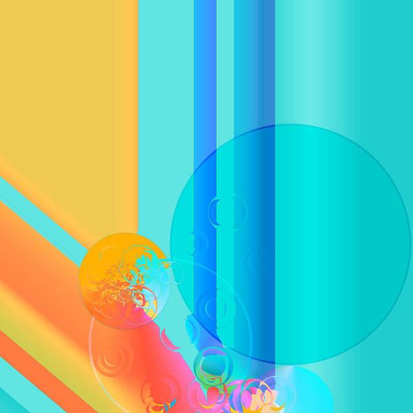 Digital Art - Vibrant Geometric Pattern Abstract by Sheila Wenzel
