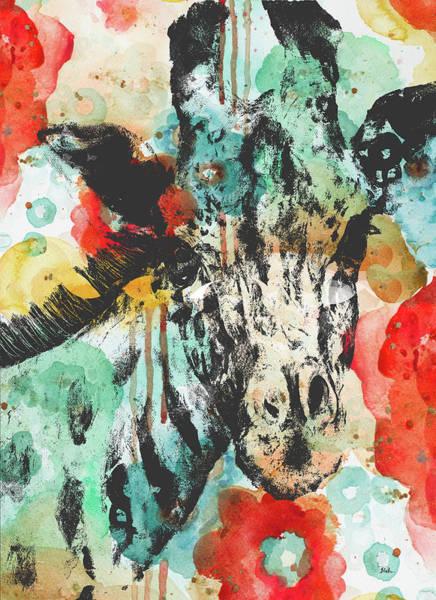 Wall Art - Painting - Vibrant Giraffe by Patricia Pinto