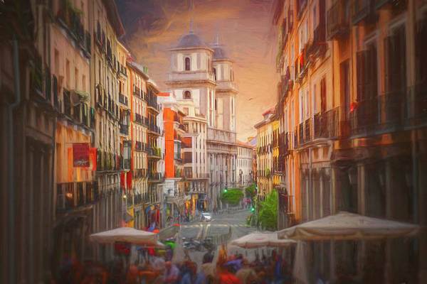 Wall Art - Photograph - Vibrant Streets Of Madrid Spain  by Carol Japp