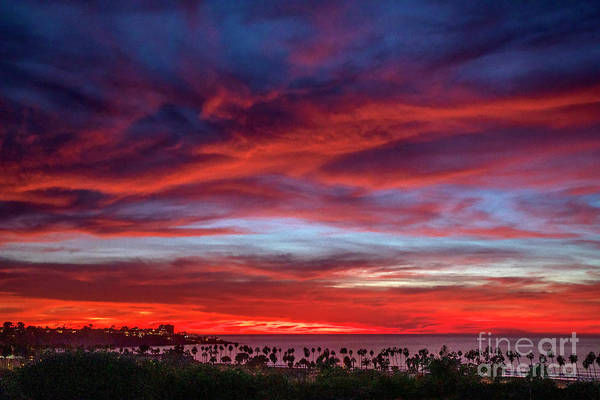 Wall Art - Photograph - Vibrant Sunset Over La Jolla Shores, California by Julia Hiebaum